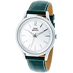 THINKPOSITIVE, Mens watch, Model SE W 130 A Big Milano,Imitation leather strap, Unisex, Color green