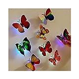 DIY Tapete Wall Sticker - Bunter leuchtender Schmetterlingsnachtlicht-Wandaufkleber - Deko für Wohnzimmer Schlafzimmer Küche Flur Oberfläche Aufkleber Home Office Wandaufkleber Kinderzimmer (Random)