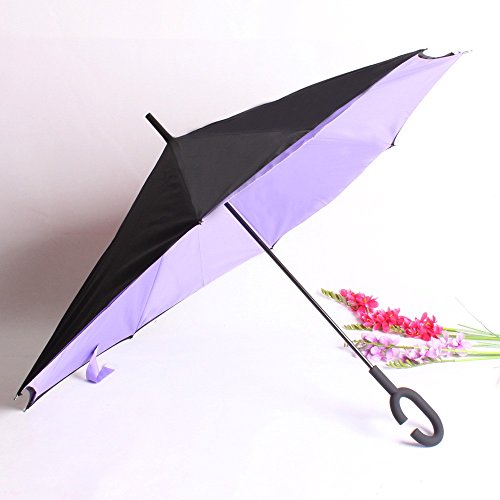 kinine-doppia-inversa-dritto-ombrello-nuovo-tinta-unita-invertito-uomo-e-donna-daffari-ombrello-ombr