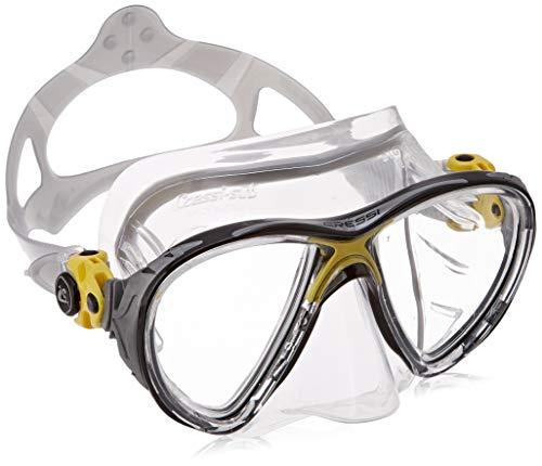 Cressi - Masque de plongée Sous Marine pour Adulte - Big Eyes Evolution - Jaune (Transparent/Jaune) - Taille Unique