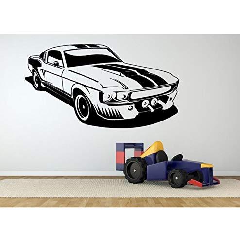Lsfhb Rennwagen Modellierung Heckscheibe Auto Aufkleber Auto Aufkleber Auto Styling Vinyl AufkleberWandaufkleberhome Schlafzimmer Küche Dekoration55X90 Cm