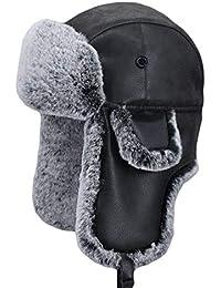 13db2bb6d061 SK Studio Unisexe Hiver Warm Chapkas Ear Flap Trappeur Bomber Anti-Vent  Chapeau d