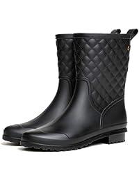 LILY999 Botas de Agua Mujer Impermeables Botas de Lluvia Bota de Goma Casual Calzado