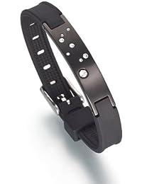 Lunavit Jupiter Black Limited Damen Magnetarmband, Schmuckplatte mit acht Swarovski-Elements sowie zwei SmCo-Magneten à 2000 Gauß und einem Germaniumstein Ge32 - inklusive Geschenkbox