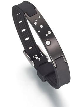 Lunavit Jupiter Black Limited Damen Magnetarmband, Schmuckplatte mit acht Swarovski-Elements sowie zwei SmCo-Magneten...