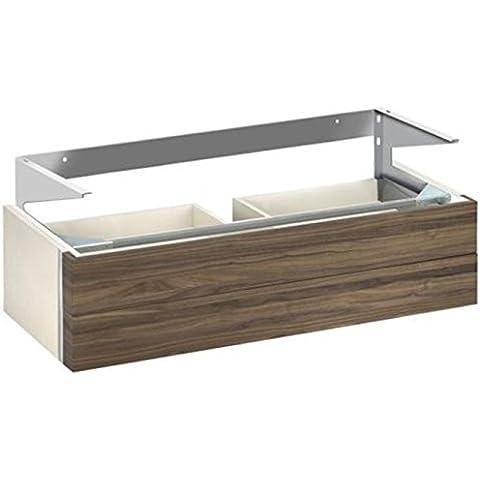 La parte inferior de la lavabo KEUCO Edition 300 30374,{2} secciones delantera, blanco/chapa de roble, 30374389000