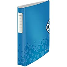 Leitz SoftClick Active WOW - Carpeta de anillas, color azul metalizado