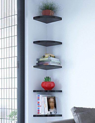 SUBBYE Mensole di stoccaggio Mensole A Parete Divisorie Angolari Supporto Ad Angolo A Forma Di Ventilatore Rack Per Contenitori Multistrato