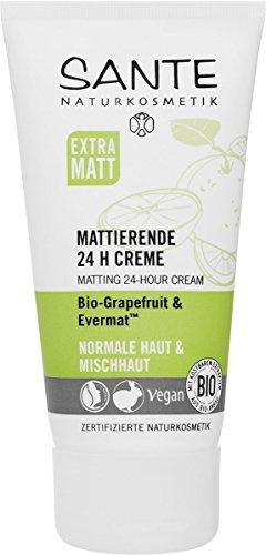SANTE Naturkosmetik Mattierende 24H Creme, Verfeinert die Poren, Mattiert die Haut, Bio-Extrakte,...