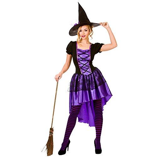 (XS) Damen Glamorous Hexe Halloween Kostüm für Fancy Dress Damen XS