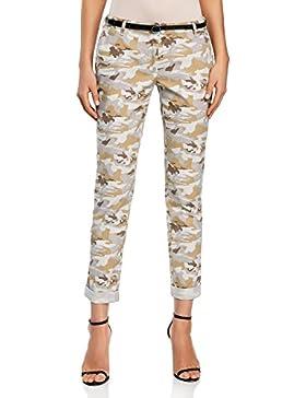 oodji Ultra Mujer Pantalones Chinos con Cinturón