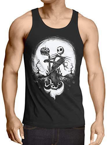 CottonCloud Jack Skellington Herren Tank Top Christmas Before Nightmare, Größe:S (Before S Nightmare Burton Christmas-halloween-kostüme Tim)