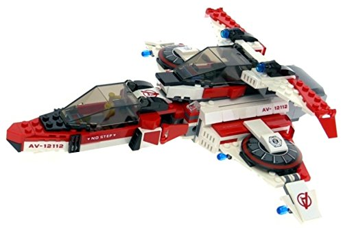 Lego-Superheroes-Super-Heroes-Avenjet-AVENJET-VEHICLE-ONLY-WITH-INSTRUCTIONS-Great-space-vehicle-for-super-heroes-or-Lego-City-Fits-two-minifigure