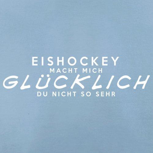 Eishockey macht mich glücklich - Herren T-Shirt - 13 Farben Himmelblau