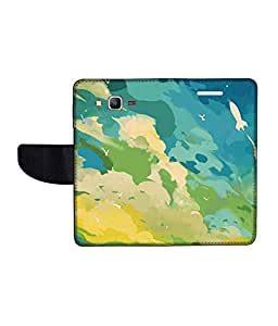 KolorEdge Printed Flip Cover For Samsung Galaxy Grand Prime Multicolor - (50KeMLogo11413SamS530)