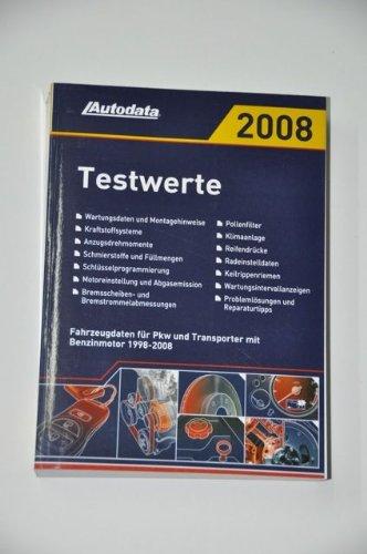 Autodata Testwerte 2008 für Benzinfahrzeuge