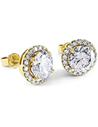 2ct Stardust Diamond Halo Stud Earrings