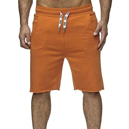 Herren Cargo Shorts Neuer Stil Baumwolle Multi-Pocket Overalls Shorts Mode Hose Sport Lose Tasche Jogginghose Kordelzug Kurz Hosen Amoyl - Cargo Stil, Jeans