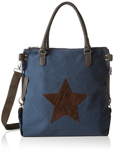 Bags4Less Damen F3151 Umhängetasche, Blau (Navyblau-Canvas), 20x40x50 cm