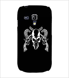 PrintDhaba Skull D-1187 Back Case Cover for SAMSUNG GALAXY S3 MINI (Multi-Coloured)