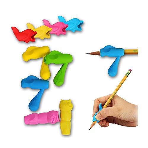 Bleistift, Schreiben, Grip Silikon Multicolor Bleistifte Handed Trainings Griff Halter für Kinder studierende Kinder und Erwachsene 30Stk OfficeProducts