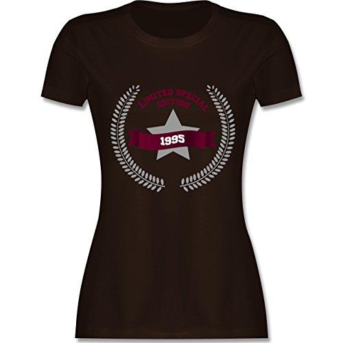 Geburtstag - 1995 Limited Edition - tailliertes Premium T-Shirt mit Rundhalsausschnitt für Damen Braun