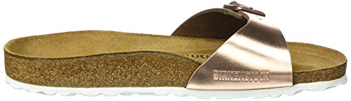 Birkenstock Madrid Leder, Mules Femme Braun (Metallic Copper)