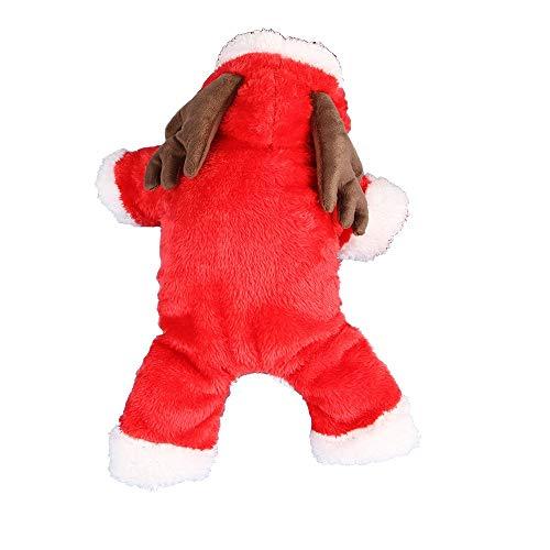 WAXDEOLM elk/Kaninchen / Schafe Sich/Kleiner Hund Kleidung Winter warm Tier Vier Beine Kleidung Kapuzenpulli Dog Coat Jacke pet Weihnachts - kostüm (Schaf Kostüm Für Hunde)