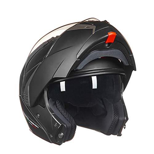 Qianliuk Motorrad Helm Flip-up Doppel Visier Racing Motos Helm Full Air System FüR MäNner und Frauen