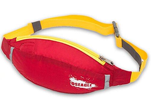 Cinny Fuß reisen Bergsteigen Wasserkocher Reiten Sport wasserdicht Mehrzwecktaschen Red