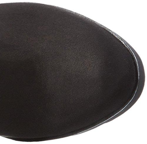 Bugatti V72346, Bottes Hautes Femme Noir (Schwarz 100)