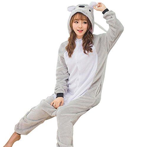 Unisex Erwachsene Cartoon Animals Pyjamas Nachtwäsche (Halloween Kostüme Zwillings Mädchen)