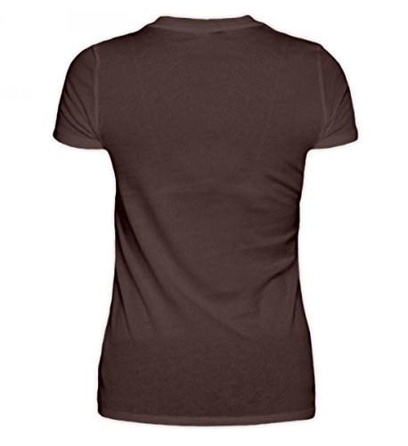 Hochwertiges Damen Premiumshirt - Kroatien Shirt/Herzschlag Kroatien Flagge/Hrvatska Braun