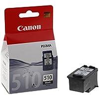 Canon PG-510 Cartucho de tinta original Negro para Impresora de Inyeccion de tinta Pixma MX320-MX330-MX340-MX350-MX360-MX410-MX420-MP230-MP240-MP250-MP252-MP260-MP270-MP272-MP280-MP282-MP480-MP490-MP492-MP495-MP499-IP2700-IP2702