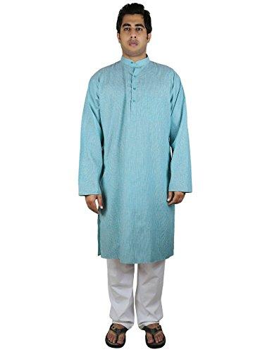 Komfortable Kurta Pyjama-Set Für Männer, Indische Kleidung Geschenke Für Opa 44 Zoll (Herren Opa Kostüme)