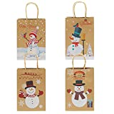Elcoho 12 Pieces Christmas Kraft Bags Holiday Party Bag Shopping Bags Paper Bags with Handle for Christmas Decorations Bild 2