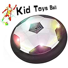 FJBMW Kids Toys The amazing ball with powerful LED light Size 4 Boys Girls Sport Children Toys Training Football for indoor or outdoor with parents game (G) (Gray) (Black)