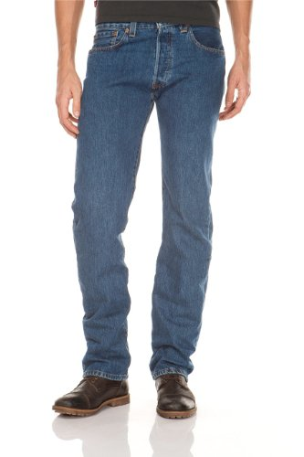 Levi's Herren Jeans 501 Original Fit Blau (Stonewash 0114)