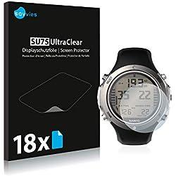 Savvies Film Protection d'écran Compatible avec Suunto D6I Novo [18 Pièces] - Ultra Clair