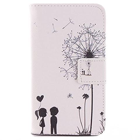630 635 Coque, Lumia 630 635 Coque, SATURCASE PU Cuir Magnétique Flip Portefeuille Support Porte-carte Coque Housse Étui Pour Nokia Lumia 630 635 Little Lovers