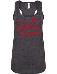 In Your Wildest Dreams - Dark Grey - Women's Racerback Vest - Fun Slogan Tank Top