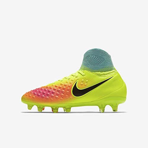 Nike Jungen JR Magista Obra II FG Fußballschuhe, Amarillo (Volt / Black-Total Orange-Pink Blast), 37.5 EU