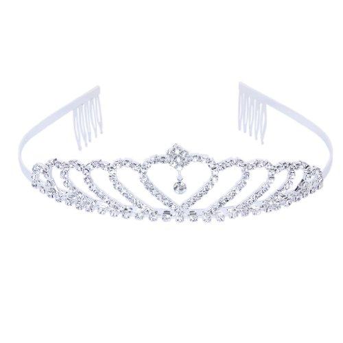 Krone Stilvolle Strass Prinzessin Stirnband Haarspange Diadem Hochzeit Braut - Pins Braut-haar