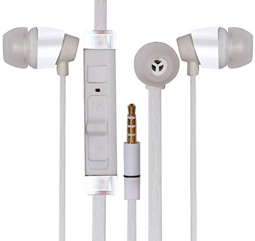 ESTAR Nokia X2-02 Compatible 3.5mm In Ear bud Stereo Earphones Mini Size HeadSet Headphone Handsfree With Mic Handsfree-White  available at amazon for Rs.299