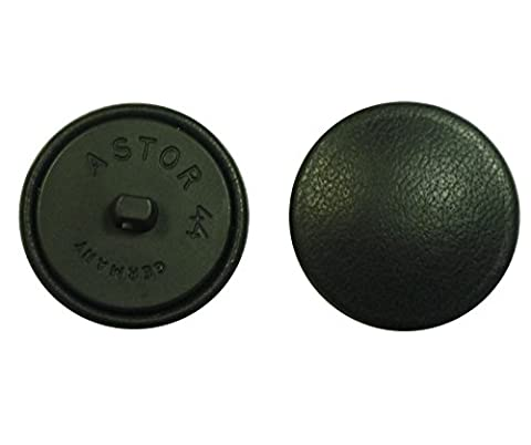 Leather Button Leather Buttons 28 mm black real leather covered