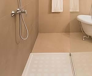 Kara Grip Dusche Badewanne Anti Rutsch Sticker Punkte in fein 21 Stk a´ 7 cm, anstatt Duschmatte, Badematte Streifen Matten rutschfeste Duschtasse selbstklebende Wanneneinlage