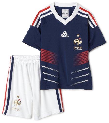 adidas Frankreich Fußball Uniform Mini Kit, Damen Mädchen Jungen Herren, Mittelblau (Adidas-fußball-uniformen)