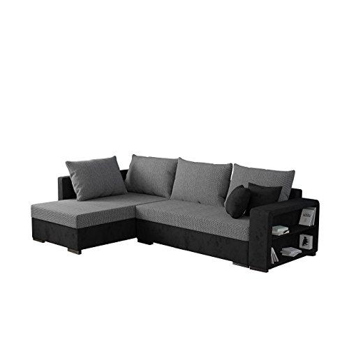 Mirjan24  Ecksofa Clovis, Moderne Eckcouch mit Schlaffunktion und Bettkasten, Ottomane Universal, Couch L-Form, Farbauswahl, Wohnlandschaft