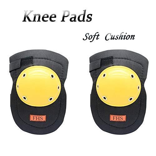 Maso FHS Knieschoner/Knieschoner / Sicherheitsschutz, verstellbare Gurte und langlebige Clips, für drinnen und draußen