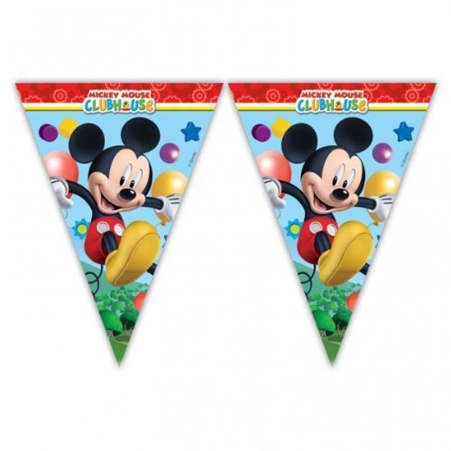 Mickey Mouse Clubhouse Party - Playful Mickey Flag Banner Bunting